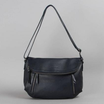 Cassiopée - sac cuir marine