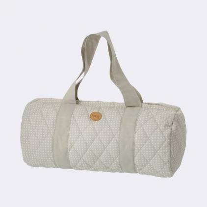 grey cross duffel bag