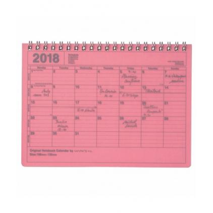 Notebook calendar petite taille rose