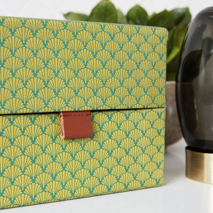 Boite de rangement rectangle green - large
