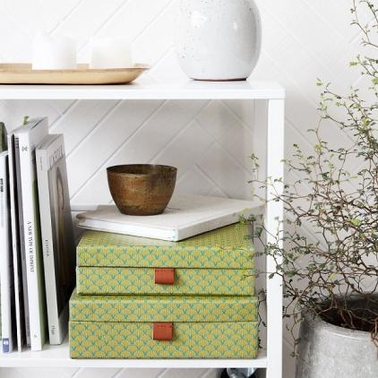 Boite de rangement rectangle plat green - small