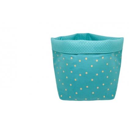 Panier big basket print confetti bleu pétrole/or