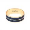 Bracelet Bollystud 2cm métal doré - Bleu nuit