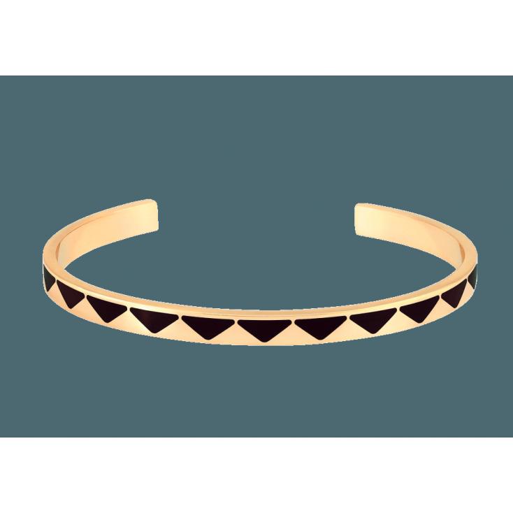Jonc Bollystud laiton doré - noir