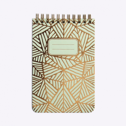 Bloc-notes Feuillage - Powder green