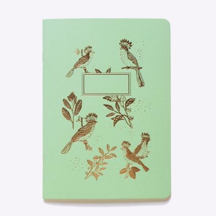 Cahier ligné Slow life - vert menthe