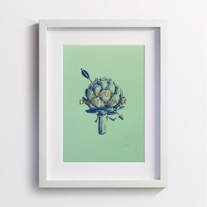 Affichette Coeur d'Artichaut Green