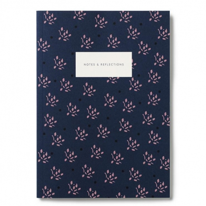 Small notebook - floral navy