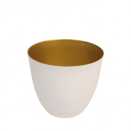 Tealight holder winter gold small