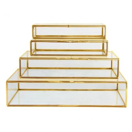 Glass box Delhi gold XS