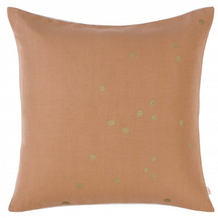 Cushion cover Lina Litchi gold dots 50