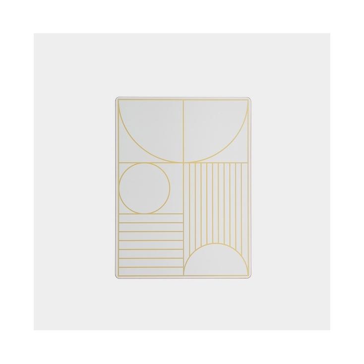 Outline dinner mat off white