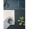 Outline dinner mat dusty blue