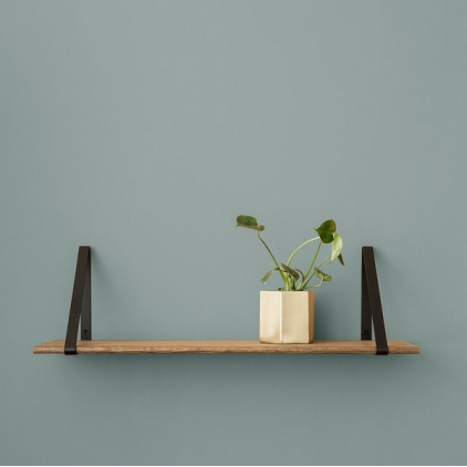 Shelf oiled oak - hangers black