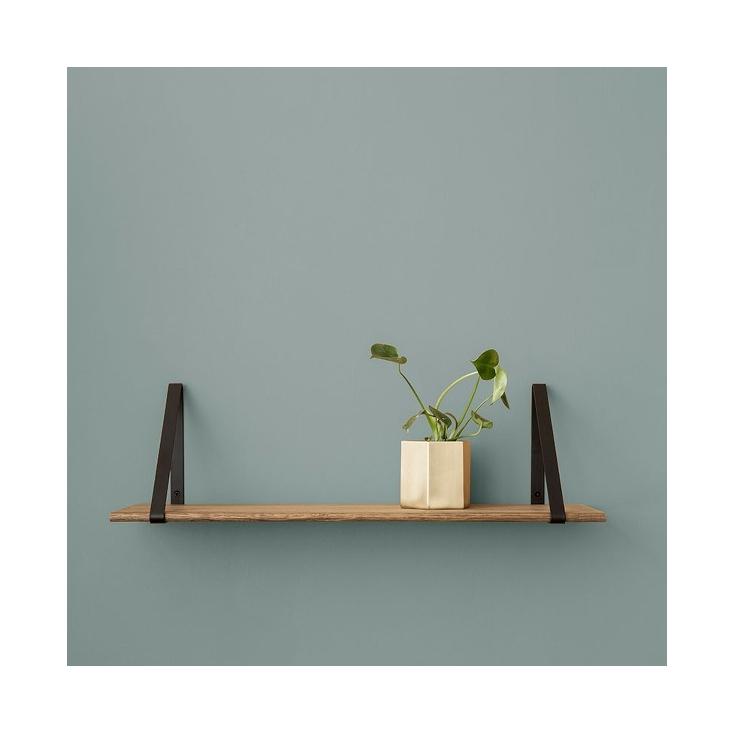 Shelf oiled oak - hangers black