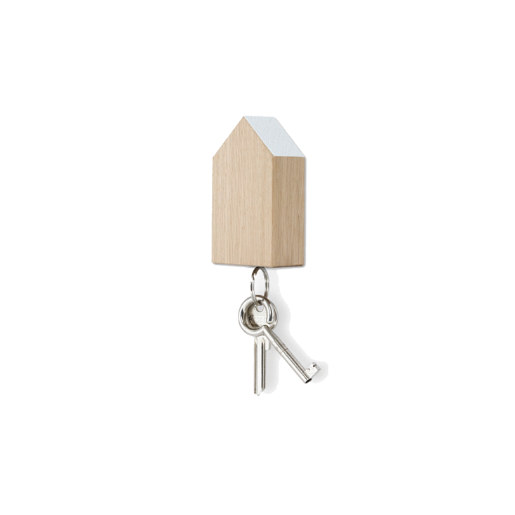 Key House magnetic oak - white