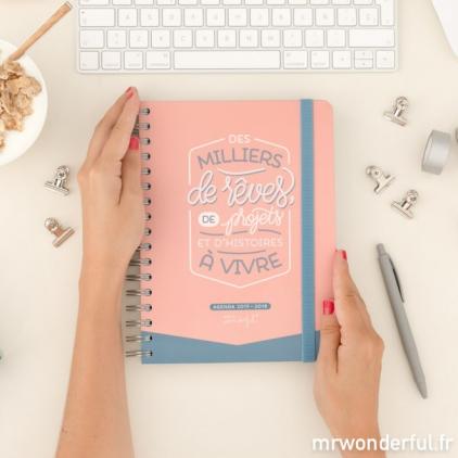 Agenda journalier - Des milliers de rêves