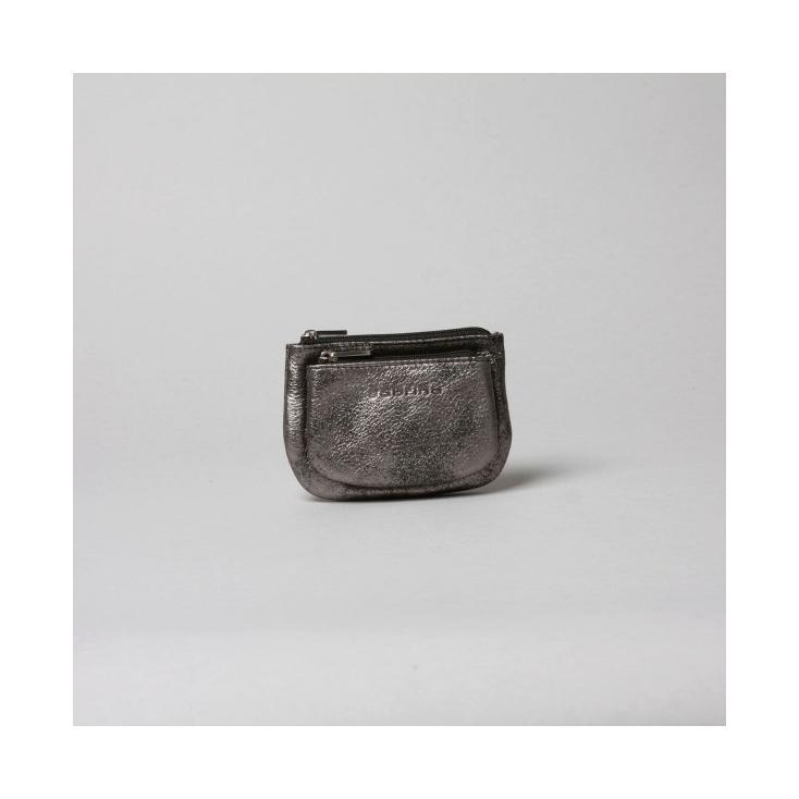 Emma - porte-monnaie cuir graphite