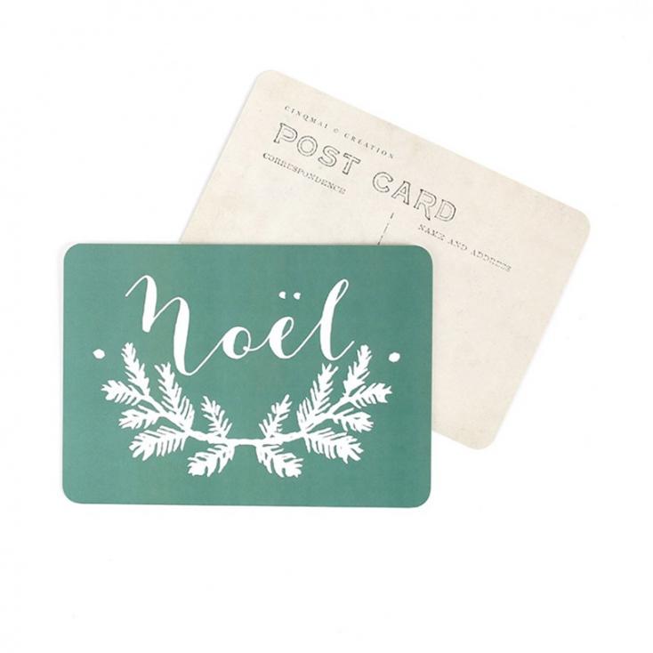 Carte postale Noël mila green