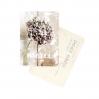 Carte postale merci hortensia rose
