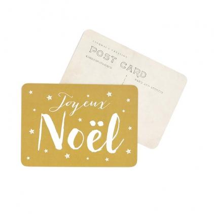 Carte postale Joyeux Noël jeanne vieil or
