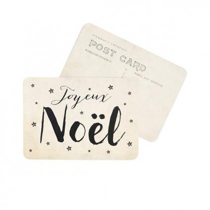 Carte postale Joyeux Noël jeanne vintage paper