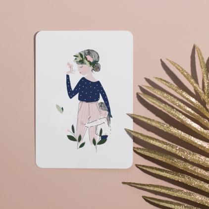 Carte postale Adélaïde bleu