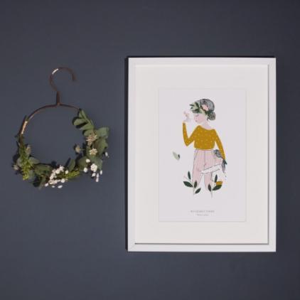 Affiche A3 Adélaïde moutarde