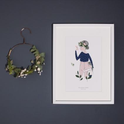Affiche A3 Adélaïde bleu