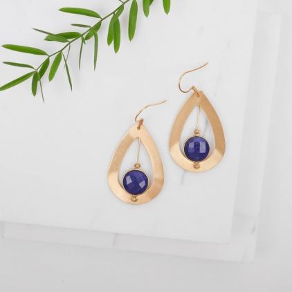 Boucles d'oreilles Moïra bleues - 10393 amulette