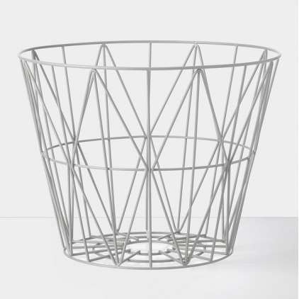 wire basket large 60 x 45 cm - grey