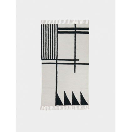 Tapis Kelim small - black lines