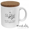 Mug avec son couvercle en liège - Slow life