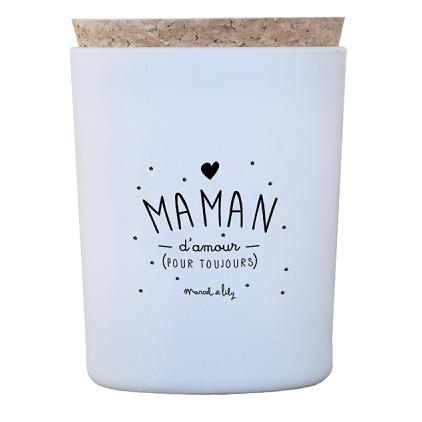 "Bougie ""Maman d'amour"" Miel"