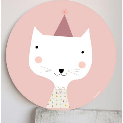 Cadre pour les enfants rose - chat