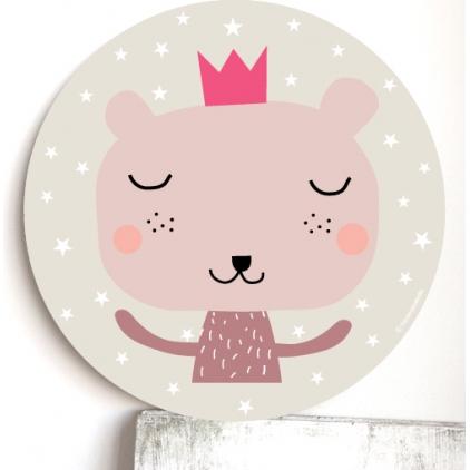 Cadre pour les enfants rose - ours