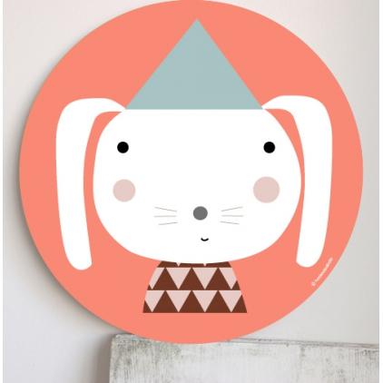 Cadre pour les enfants rose - lapin