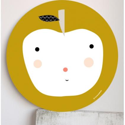Cadre pour les enfants jaune - pomme