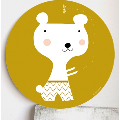 Cadre pour les enfants jaune - ours
