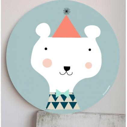 Cadre pour les enfants bleu - ours