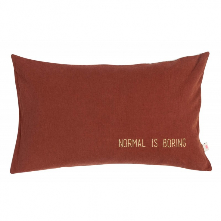 Cushion cover Lina boring terracota 30