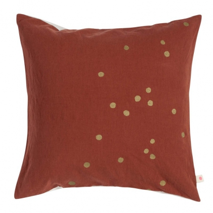 Cushion cover Lina Terracotta gold dots 50