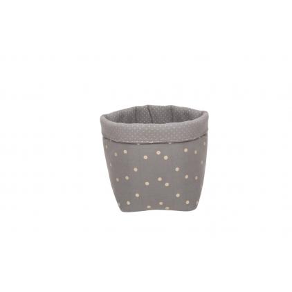 Panier medium basket print confetti gris foncé/or