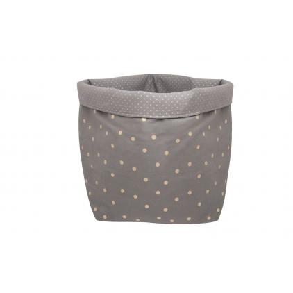 Panier big basket print confetti gris foncé/or