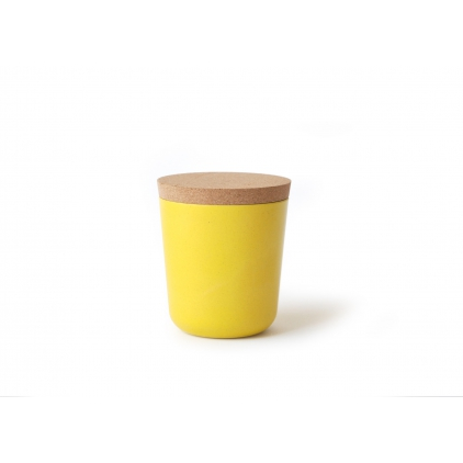 Gusto large Storage Jar with cork lid lemon