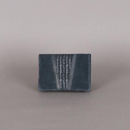 Portefeuille Pippa tressé bleu