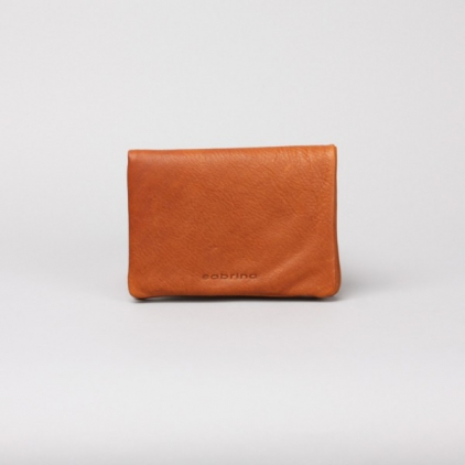 Pippa - portefeuille cuir caramel