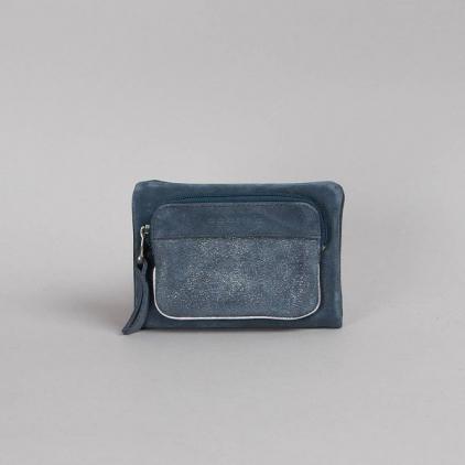 Porte-feuille Ninon pailleté bleu