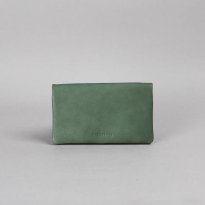 Kate - portefeuille cuir eucalyptus