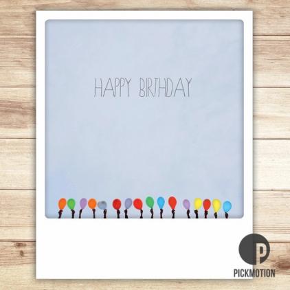 Carte postale Happy Birthday Balloons ZG0124EN